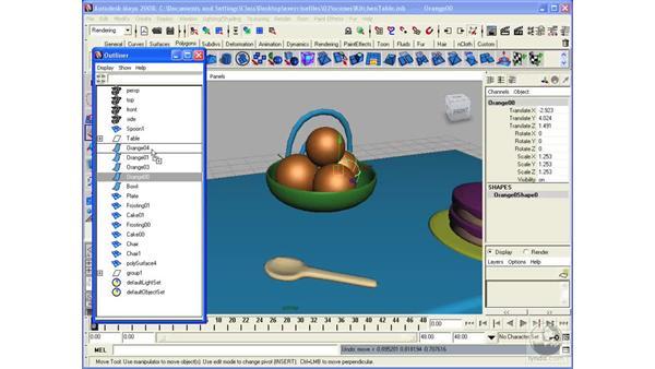 Creating hierarchies: Maya 2008 Essential Training