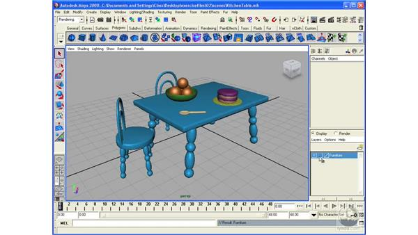 Creating layers: Maya 2008 Essential Training