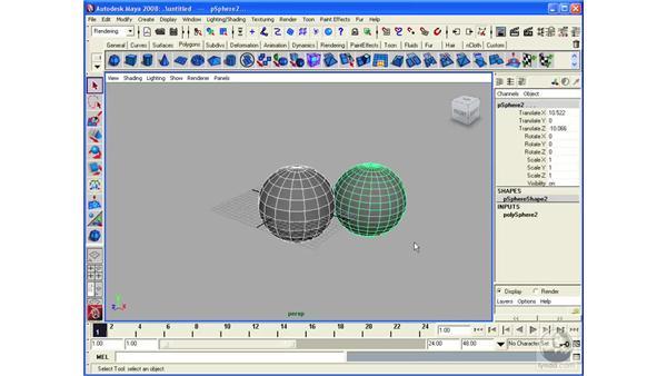 Understanding polygonal primitives: Maya 2008 Essential Training