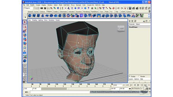 Working with the Edge Loop feature: Maya 2008 Essential Training