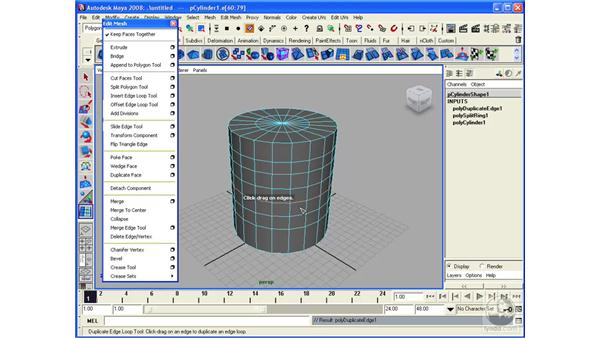 Manipulating edge loops: Maya 2008 Essential Training