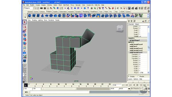 Using the Object History: Maya 2008 Essential Training