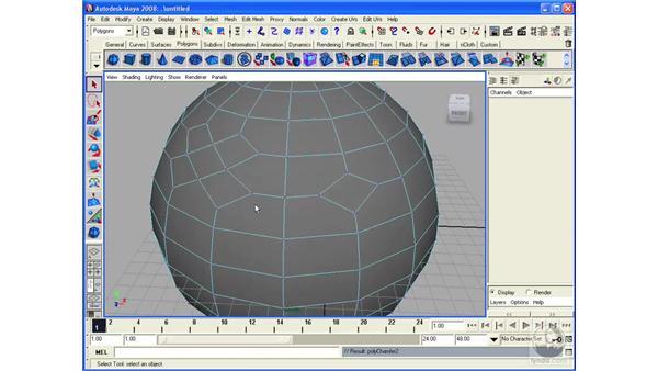 Understanding Polygon Chamfer: Maya 2008 Essential Training