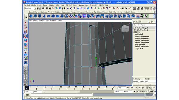 Merging vertices: Maya 2008 Essential Training