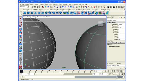 Introducing NURBS Modeling: Maya 2008 Essential Training