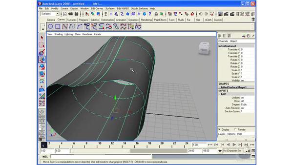 Using NURBS Loft: Maya 2008 Essential Training