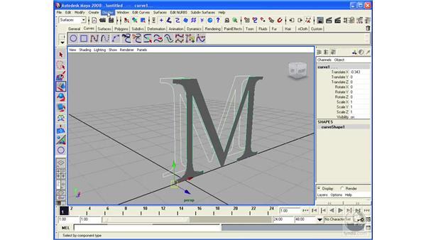 Using NURBS Planar: Maya 2008 Essential Training