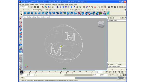 Trimming NURBS Surfaces: Maya 2008 Essential Training