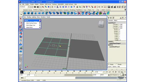 Stitching NURBS Surfaces: Maya 2008 Essential Training