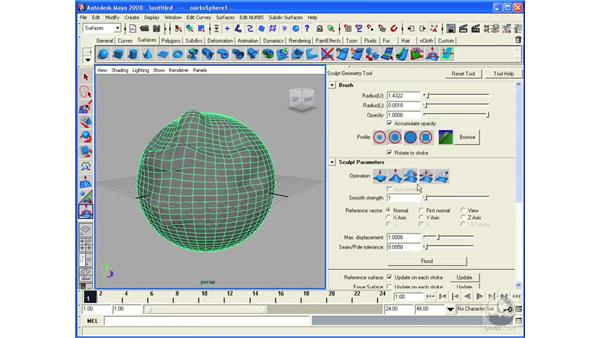 Sculpting surfaces: Maya 2008 Essential Training