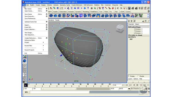 Modeling with Lattices: Maya 2008 Essential Training