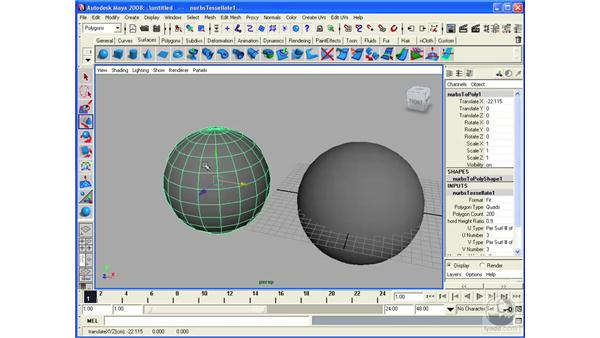 Converting NURBS to polygons: Maya 2008 Essential Training