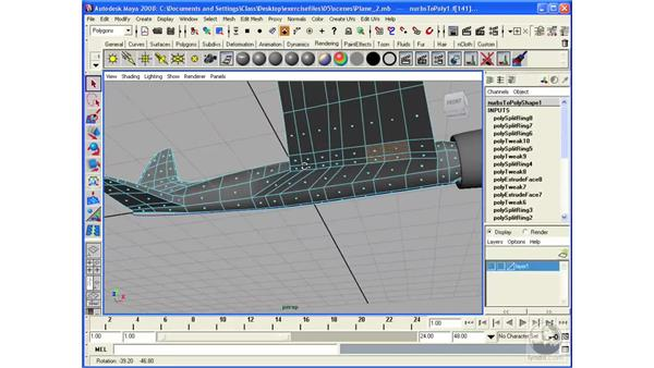 Modeling an airplane: the landing gear: Maya 2008 Essential Training