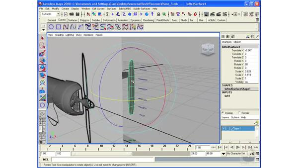 Modeling an airplane: the propeller: Maya 2008 Essential Training