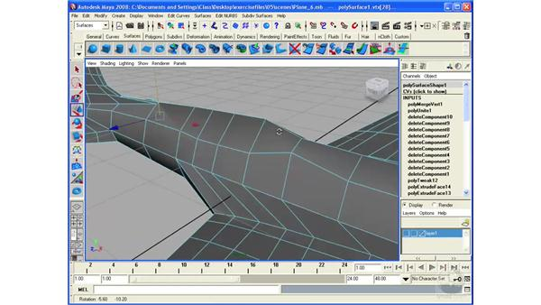 Modeling an airplane: finalizing the model: Maya 2008 Essential Training