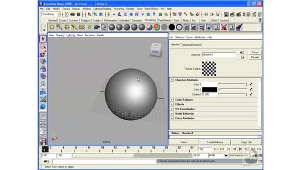 Creating and applying maps: Maya 2008 Essential Training