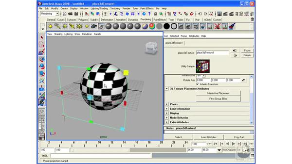 Projecting textures: Maya 2008 Essential Training