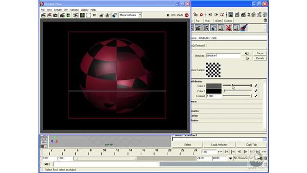 Applying transparency: Maya 2008 Essential Training