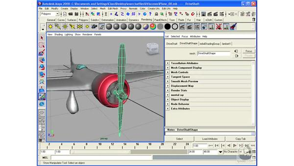 Texturing an airplane: Maya 2008 Essential Training