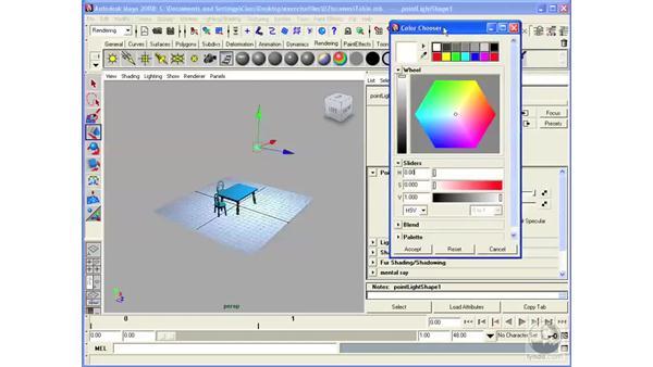 Understanding the basics of lights: Maya 2008 Essential Training