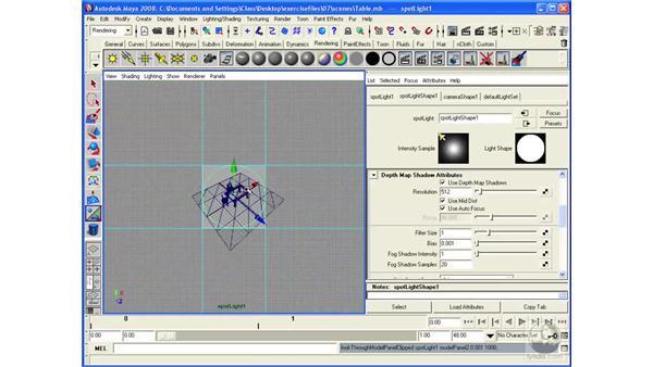 Adding depth-map shadows: Maya 2008 Essential Training