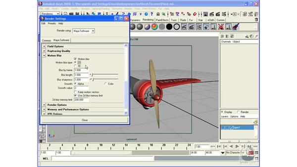 Using Motion Blur: Maya 2008 Essential Training
