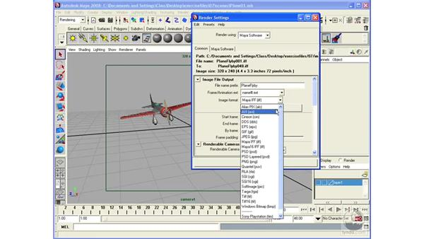 Rendering in batches: Maya 2008 Essential Training