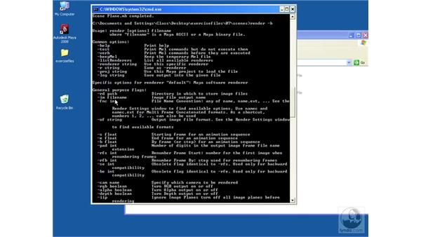 Using Command-Line rendering: Maya 2008 Essential Training
