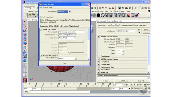 Creating Mental Ray materials: Maya 2008 Essential Training