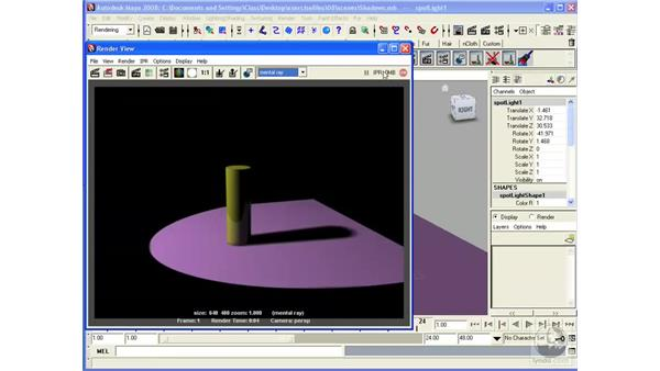 Working with Mental Ray lights: Maya 2008 Essential Training