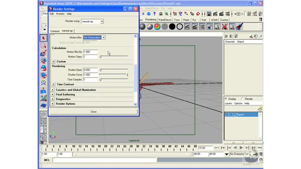 Using Motion Blur in Mental Ray: Maya 2008 Essential Training