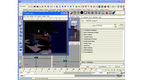 Creating Global Illumination in Mental Ray: Maya 2008 Essential Training