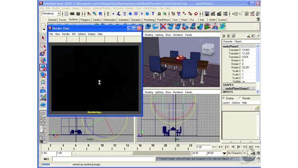 Using Final Gather for soft lighting effects: Maya 2008 Essential Training