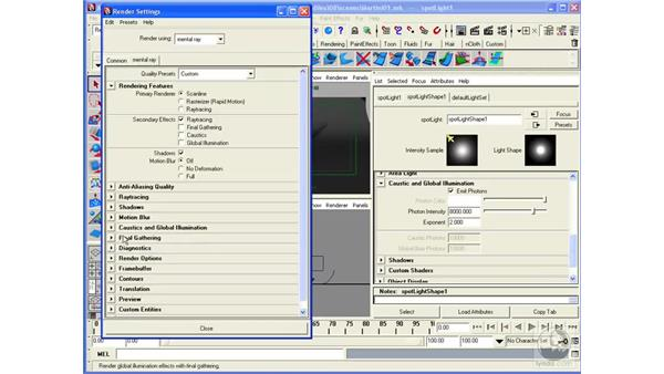 Rendering transparent materials with Caustics: Maya 2008 Essential Training