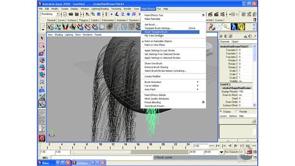 Applying Brushes to existing strokes: Maya 2008 Essential Training