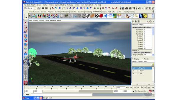 Understanding Paint Effects in practice: Maya 2008 Essential Training