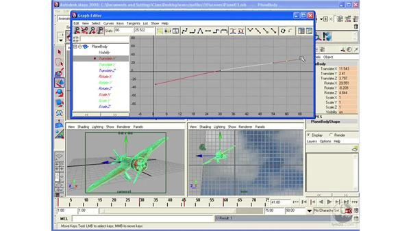 Modifying keys in the Graph Editor: Maya 2008 Essential Training