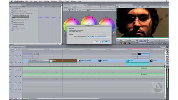 Realizing Final Cut Pro sequence limitations in Color: Apple Color Essential Training