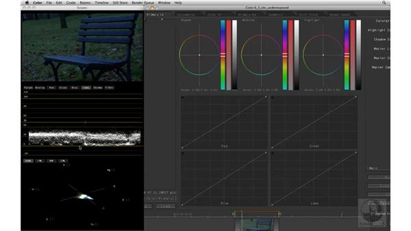Adjusting underexposed clips with the Color Balance controls: Apple Color Essential Training