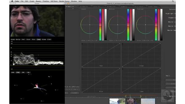 Adjusting luma with Primary Curves: Apple Color Essential Training