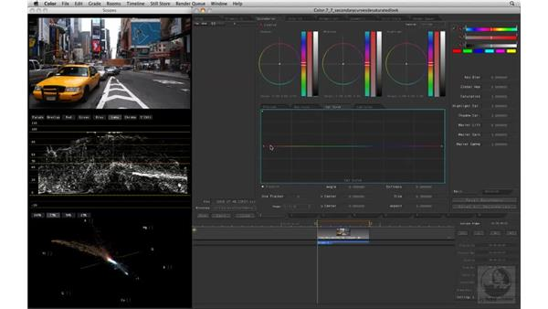 Creating a desaturated look with the Saturation Curve: Apple Color Essential Training