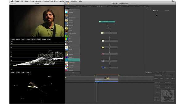 Creating a film look: Apple Color Essential Training