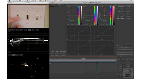 Keyframing for a mood change: Apple Color Essential Training