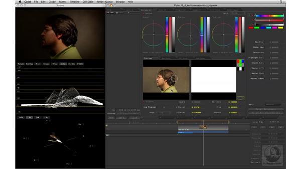 Keyframing a Vignette: Apple Color Essential Training