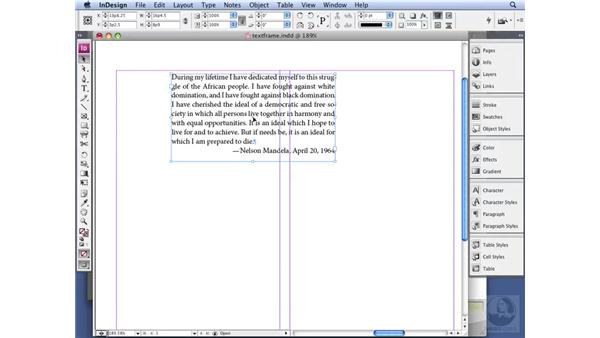 Working with text frames: InDesign CS3 Professional Typography