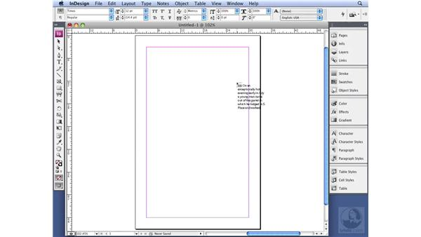 Working with manual text flow: InDesign CS3 Professional Typography