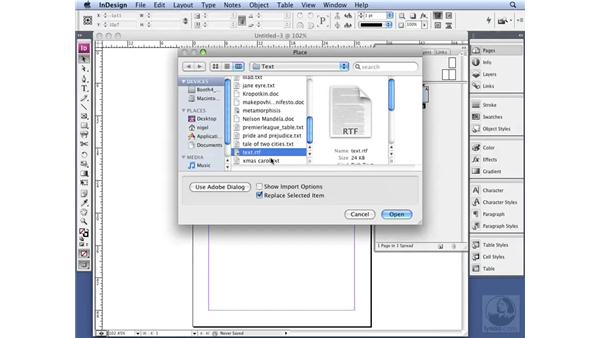 Working with Autoflow: InDesign CS3 Professional Typography