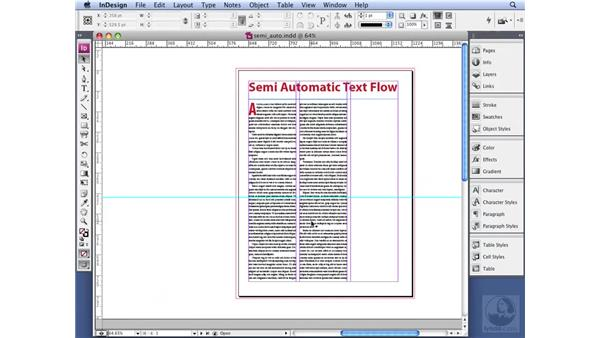 Working with semi-automatic text flow: InDesign CS3 Professional Typography