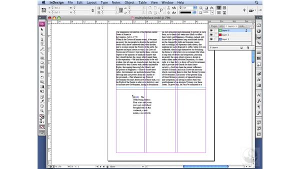 Placing multiple text files: InDesign CS3 Professional Typography
