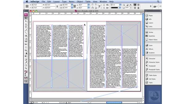 Working with text threads: InDesign CS3 Professional Typography